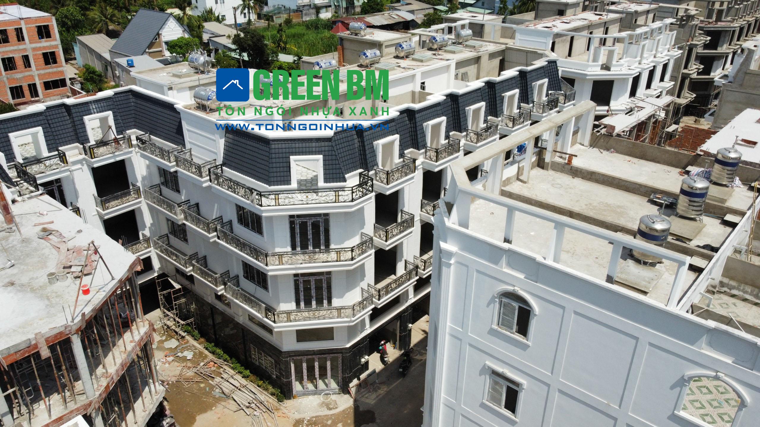 khu dân cư Thành Đô - Tôn ngói nhựa xanh
